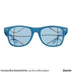 Carolina Blue Basketball Party Wayfarer Sunglasses #basketball #carolina #blue #unc #tarheels #party #shades #sunglasses #marchmadness