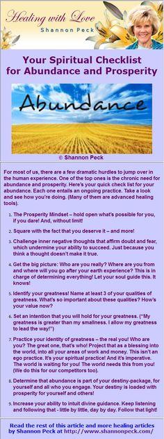 Your Spiritual Checklist for Abundance and Prosperity
