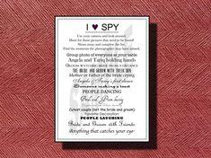 Wedding Reception Photo Hunt I Spy Game by WeddingsByJamie on Etsy, $12.00