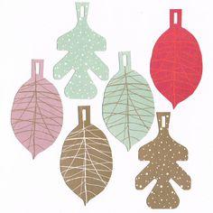 Lovely leaves tags, design Jurianne Matter!