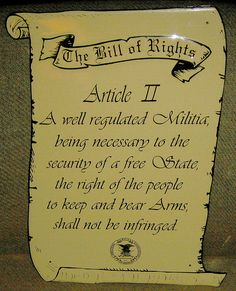 Article II The Bill Of rights