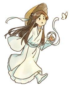 "just a dead fish on Twitter: ""#tgcf ruoye is cute… "" Chinese Icon, Dead Fish, Color Pencil Art, Shounen Ai, Kawaii Anime Girl, Webtoon, Chibi, Manhwa, Blessed"