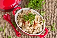 Easy vegan alfredo.  I add spinach, mushrooms, and peas.  This is the best alfredo recipe I've found!