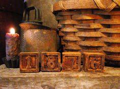40 Primitive grungy tea light Candles//spices//vintage//COUNTRY BERRY PANCAKES