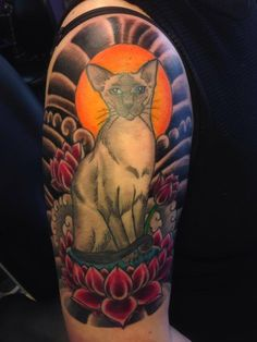 my first ink #tattoo #cat #siamese