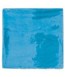 £1.04 13x13cm Topps Tiles Provenza Craquele Azul Cielo Tile