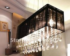 Free shipping rectangle crystal pendant lamp,hanging light,dining room/residential/parlour lighting fixture-in Chandeliers from Lights & Lighting on Aliexpress.com