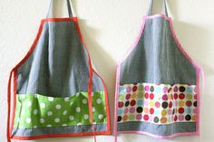 Toddler aprons.  Great idea for a Christmas gift for some super little chef's I know :)