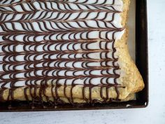 {custard slices} This Muslim Girl Bakes: Double Cookies + Custard Slice Week + Nutella Pastries: 28 November - 4 December 2015.