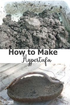 How to Make Hypertufa; tips & techniques for this unique garden craft - - How to Make Hypertufa; join in the fun and learn how to make this unique garden craft; use these instructions to make troughs, pinch pots and many more great hypertufa projects. Succulent Gardening, Garden Planters, Organic Gardening, Container Gardening, Concrete Planters, Rustic Gardens, Unique Gardens, Outdoor Gardens, Outdoor Art