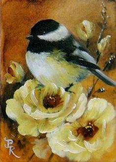 "Daily Paintworks - ""Dainties"" - Original Fine Art for Sale - © Paulie Rollins Watercolor Bird, Watercolor Paintings, Bird Drawings, Bird Pictures, Vintage Birds, Animal Paintings, Bird Paintings, Bird Prints, Bird Art"