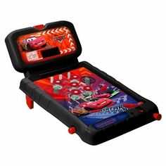 Franklin Sports Disney Pixar Cars Electronic Pinball Game by Franklin Sports. $21.99. From the Manufacturer                Flip the pinballs quickly to hear Lightening McQueen cheer you on in this exciting electronic pinball game.  Electronic scoring, lights and sounds                                    Product Description                The Disney Pixar Cars Pinball Game features 4 flipper action and an electronic scoring lights and authentic character sounds. The siz...