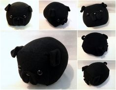 How adorable is this black pug plush? Pug Pillow, Black Pug Puppies, Pug Love, Dog Owners, Best Dogs, Fur Babies, Your Dog, Hugs, Cute Animals
