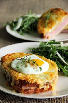 Taking the ordinary ham sandwich to the next level... Croque Monsieur and Croque Madame!  Gruyere and bechamel make this so delicious!