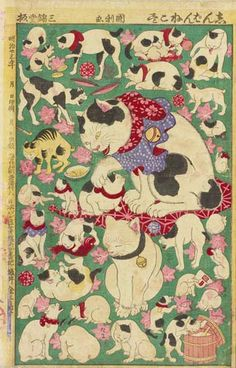 * Newly Published Various Cats Utagawa Kunitoshi