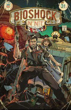 Bioshock Vintage Comic Cover - Emilio Lopez