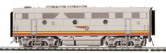 MTH #80-2187-1 F-3 B Unit With Proto-Sound 3.0 - Santa Fe  Features Intricately Detailed ABS Bodies Metal Chassis Moveable Roof Fans Metal Body Side Grilles (2) Engineer Cab Figures In Each A Unit Authentic Paint Scheme Metal Wheels and Axles