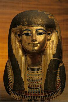 King Tut (King Tutankhamun Exhibit - Post card ofGilden Funerary Mask of Tuyu Dynasty) Egyptian Mask, Egyptian Mummies, Ancient Egyptian Art, Ancient History, Egyptian Mythology, Egyptian Goddess, European History, Ancient Aliens, Ancient Greece