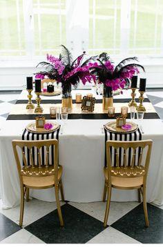 gold black wedding inspiration, photo by OctaviaplusKlaus Photography