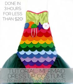 Tutorial-mermaid-dress-up-costume
