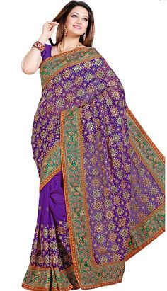 Get Fashionable Latest Purple Faux Chiffon #DesignerSaree Product Code: KDS-39626 Price: INR 5145(Unstitch Blouse), Color: Purple Shop Online now: http://www.efello.co/Saree_Traditional-Ethnic-Red-Faux-Chiffon-Designer-Saree,-Sari_38043
