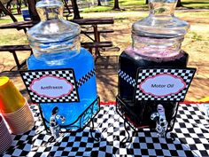 Drink Station at a Cars Party #carsparty #drinkstation