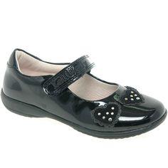 Lelli Kelly Eliie Heart Girls Velcro Fastening School Shoes