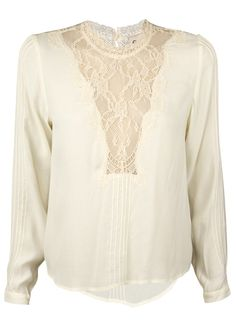 Sea New York / Pintucked Lace Combo Blouse