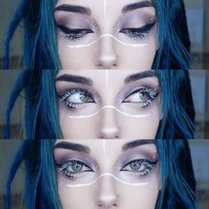 Looking for for ideas for your Halloween make-up? Browse around this site for cute Halloween makeup looks. Makeup Inspo, Makeup Art, Makeup Inspiration, Beauty Makeup, Hair Makeup, Makeup Ideas, Goth Eye Makeup, Witchy Makeup, Doll Makeup