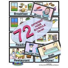 ★ NEW UPDATE! 104 Different Illustrated Picture Schedule Cards FOR HOME USE!  ★ TWO HELPER Pages describing how to use visual schedules!  ★ PLUS 20 DIFFERENT Display Pages!  ★ 2  Designed for a child using visual supports in a home environment to help them to understand the stages of their day. Designed AND Illustrated by an experienced SLP who routinely gives presentations to educators on the power of using visual strategies! Visual Schedule Preschool, Preschool Special Education, Visual Schedules, Preschool Speech Therapy, Schedule Cards, Home Themes, Theme Pictures, File Folder Games, Task Boxes