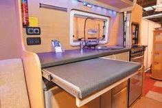 extra worktop space - Home Decoration Van Conversion Layout, Diy Van Conversions, Camper Van Conversion Diy, Campervan Conversions Layout, Sprinter Conversion, Camper Caravan, Diy Camper, Homemade Camper, Rv Campers