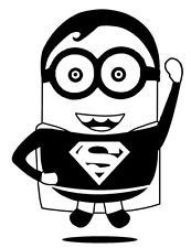 Despicable Me Minion Superman Vinyl Decal Die Cut Sticker found on Amazon.