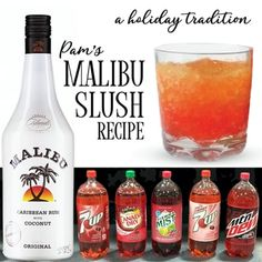 Dessert drinks we love: The Malibu mudslideAre you looking for something decadent and tasty? Treat yourself to this white hot cocktail drink with coconut rum.Pam & # s Malibu Slush Drink Recipe Easy Mixed Drinks, Mixed Drinks Alcohol, Alcohol Drink Recipes, Holiday Drinks, Summer Drinks, Fun Drinks, Camping Drinks, Dessert Drinks, Party Drinks
