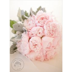 Pink Peony Wedding Bouquet ❤ liked on Polyvore
