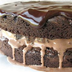 Brownie Ice Cream Cake: step-by-step directions and tips.