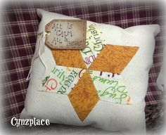 SALE Whimsical Gold Star  Pillow Tuck by cynzplace on Etsy