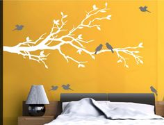 Cheap bird mirror, Buy Quality bird print directly from China bird Suppliers: Huge White Tree Wall Decal Nursery Tree and Birds Wall Art Baby Kids Room Wall Sticker Nature Wall Decor 210