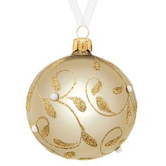 Buy John Lewis Enchantment Glass Shine Bauble, Champagne Online at johnlewis.com