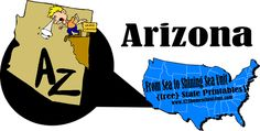 free #arizona worksheets for #homeschool Social Studies, #preschool, or family #roadtrip. Fun activities for Preschool, #kindergarten, and #elementary age students