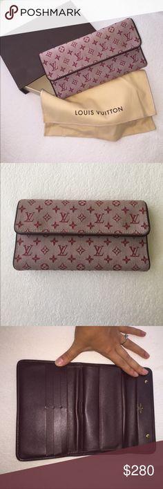 fb5b7ff4be8e Louis Vuitton PORTEFEUILLE MINI LIN BORDEAUX Louis Vuitton Monogram Wallet.  Fabric burgundy logo and burgundy