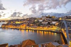 Porto by night, Portugal