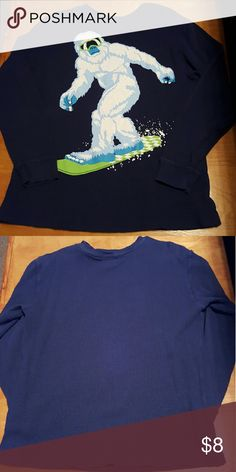 Old Navy boys thermal tee Very cute boys long sleeve thermal tee. No stains. Comes from smoke free and pet free home! Old Navy Shirts & Tops Tees - Long Sleeve