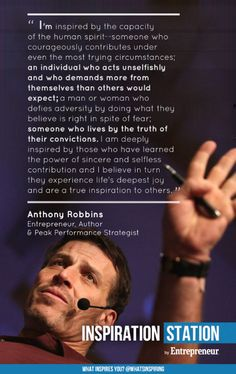 Inspiring #quote by #TonyRobbins - from Inspiration Stations What inspires you?  http://inspiration.entrepreneur.com/