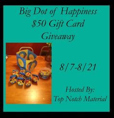 Big Dot of Happiness $50 Gift Card Giveaway! 08/21 - Tales From A Southern Mom