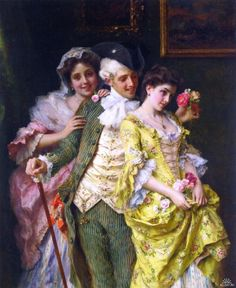 Flirtation by Federico Andreotti (Italian 1847-1930)
