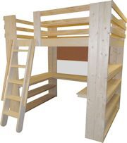 All-In-One Sleep Study & Storage Loft Bed. Twin Full Queen and King sizes for boys and girls. U-Shaped Desk, Bookcase Cork Board White Boards. Super sturdy with 1000 lbs. of weight capacity and lifetime warranty.