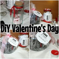 Last minute: 4 easy DiY for Valentine's Day!! Love coupons, Marshmallow Candy Box, Sweet Mason Jar, Love in a Bottle. Visit my website and YouTube channel!!  http://sombrasdabeleza.blogspot.pt/2016/02/diy-4-super-easy-projects-to-make-on.html?m=0