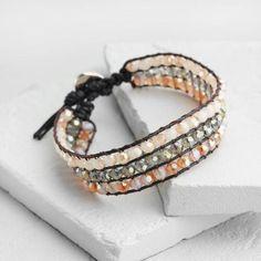 One of my favorite discoveries at WorldMarket.com: Orange and Green Beaded Friendship Bracelet