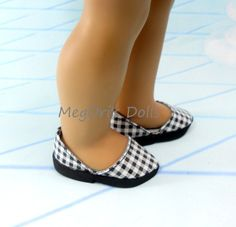 American Girl Shoes Black and White by MegOrisDolls on Etsy, $14.00