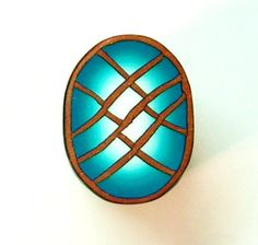 Polymer Clay Cane  Gold Turquoise by Norrine on Etsy